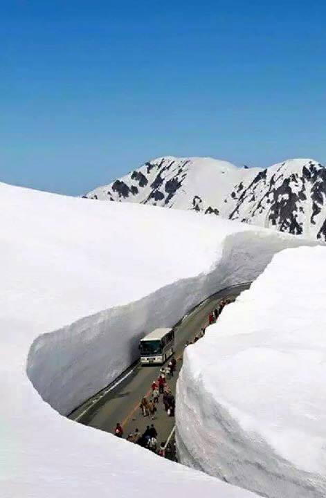 Tateyama Kurobe Alpine Route adalah salah satu destinasi populer di Jepang.