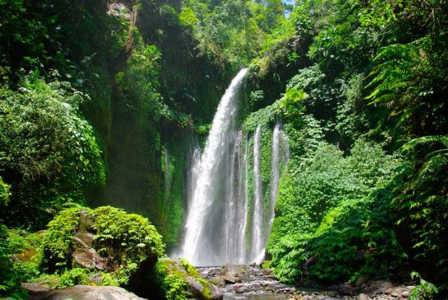 Sendang Gile Waterfall, it's really beautiful!
