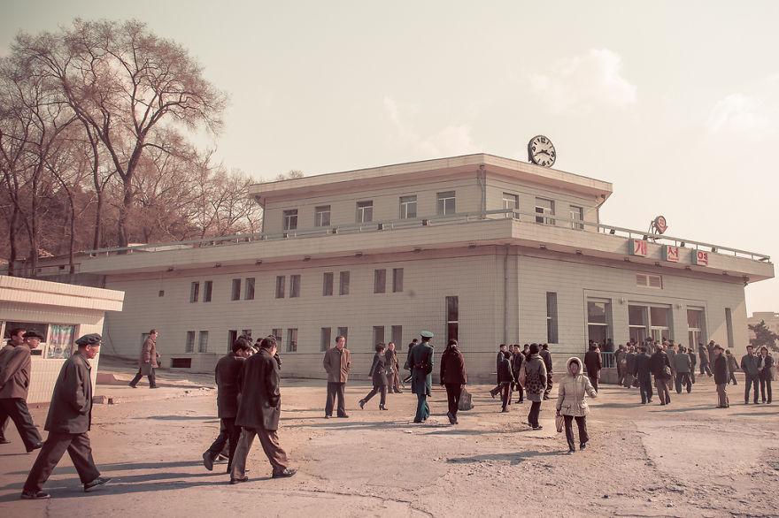 Stasiun kereta bawah tanah di Korea Utara