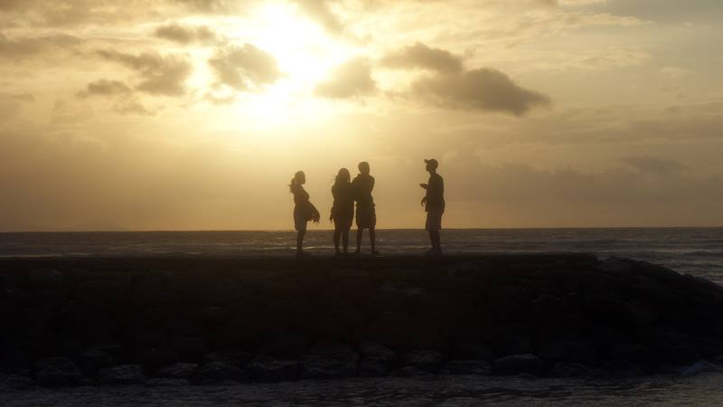 Menikmati sunrise di Sanur