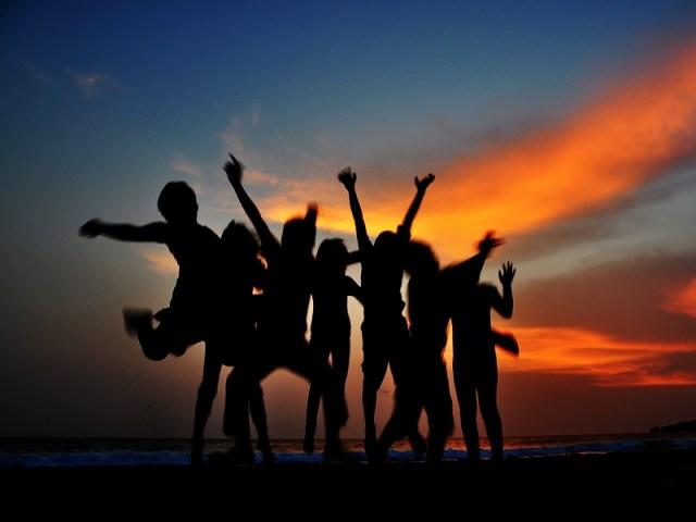 Sawarna Beach ketika menjelang sunset