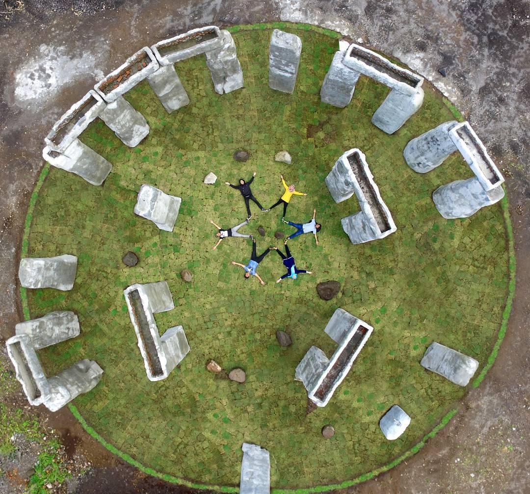 Foto Stonehenge Ala Sleman dari udara by IG @jokowarsito
