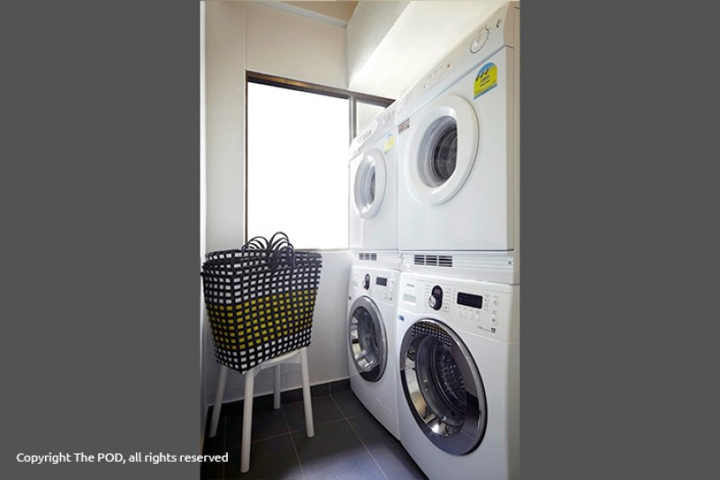 Fasilitas laundry The POD Singapura
