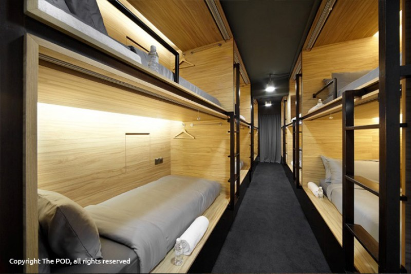 Kabin The Pod ini sangat nyaman meski berupa kapsul hotel