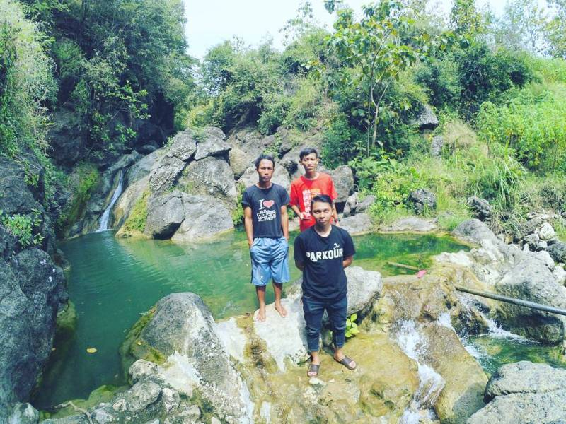 Refreshing here during the dry season is the best time by @embe_andika_zacky