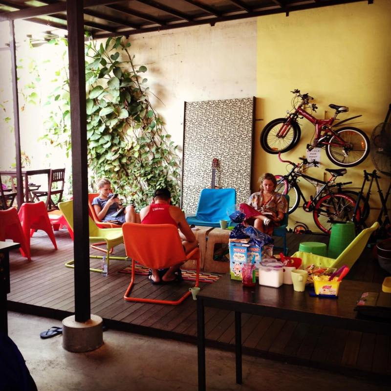 Common room at the little red dot via @andrea_guetta
