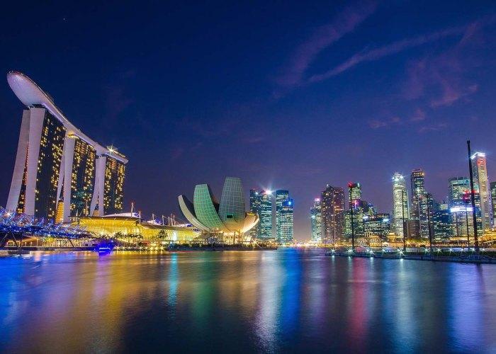 Singapore Marina Bay Sands Malam Hari