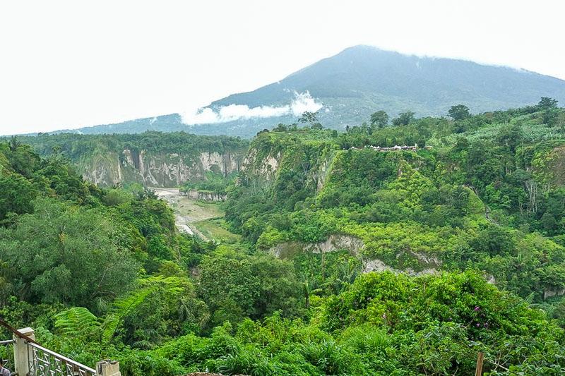 Pemandangan ngarai sianok dari taman panorama