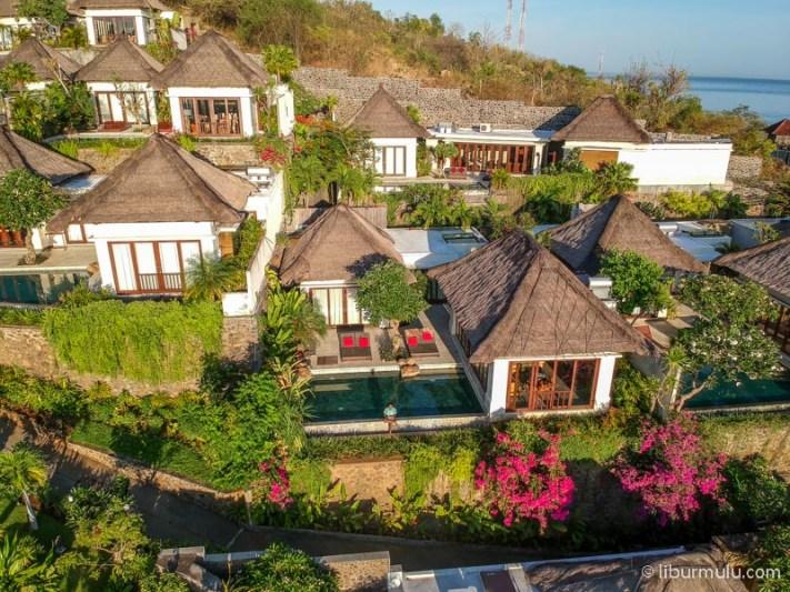 The Griya Villa and Spa dari foto udara