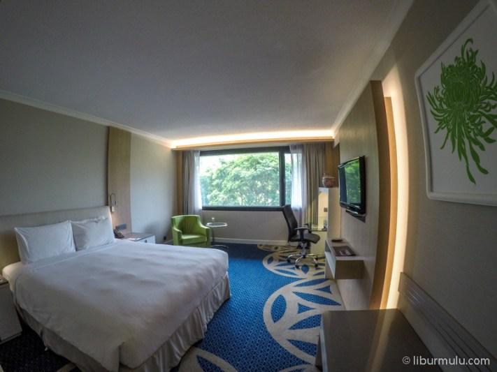 Foto kamar yang saya tempati di Concorde Hotel Singapore