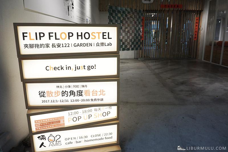 Flipflop garden hostel taipei