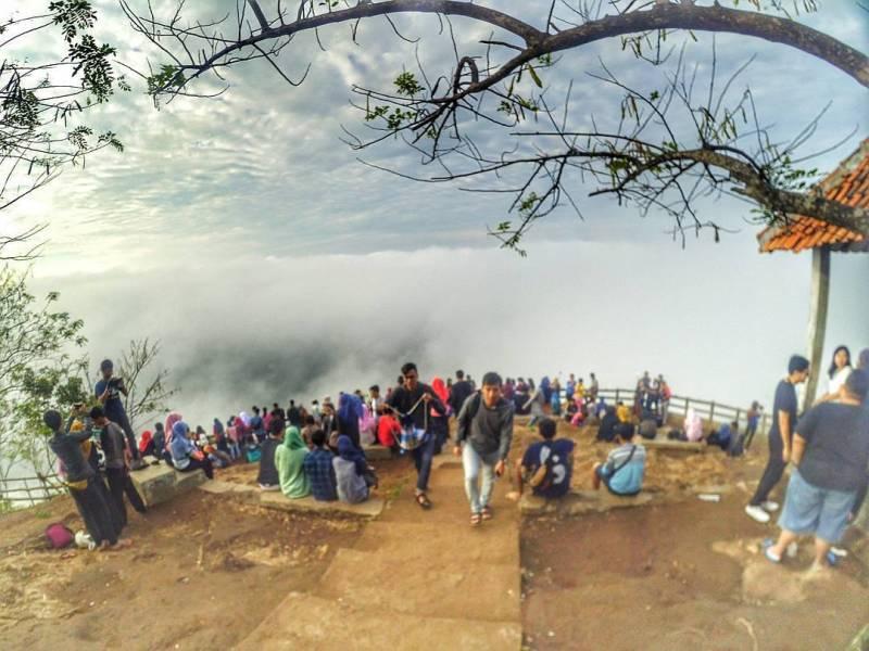 Kebun Buah Mangunan yang penuh dengan awan via @kebunbuahmangunanbantul