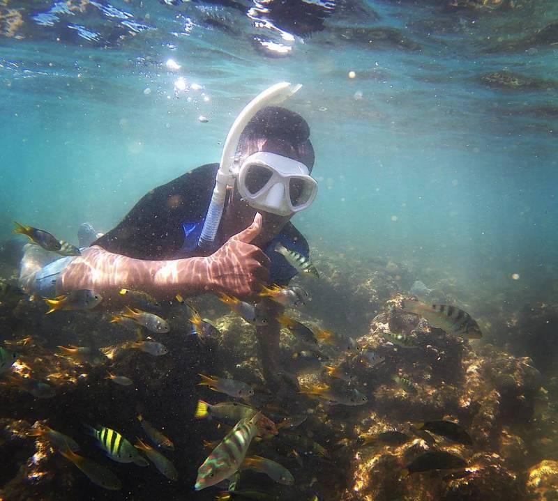 Bersantai dan Snorkeling di Pantai Jogja Pantai Sadranan Saja! via @ariiitakeo