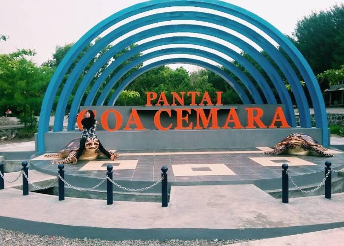 Pantai Goa Cemara ini adalah salah satu pantai di Yogyakarta yang direkomendasikan untuk dikunjungi. via IG @ipandini65