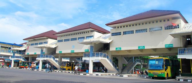 Terminal Giwangan Yogyakarta.