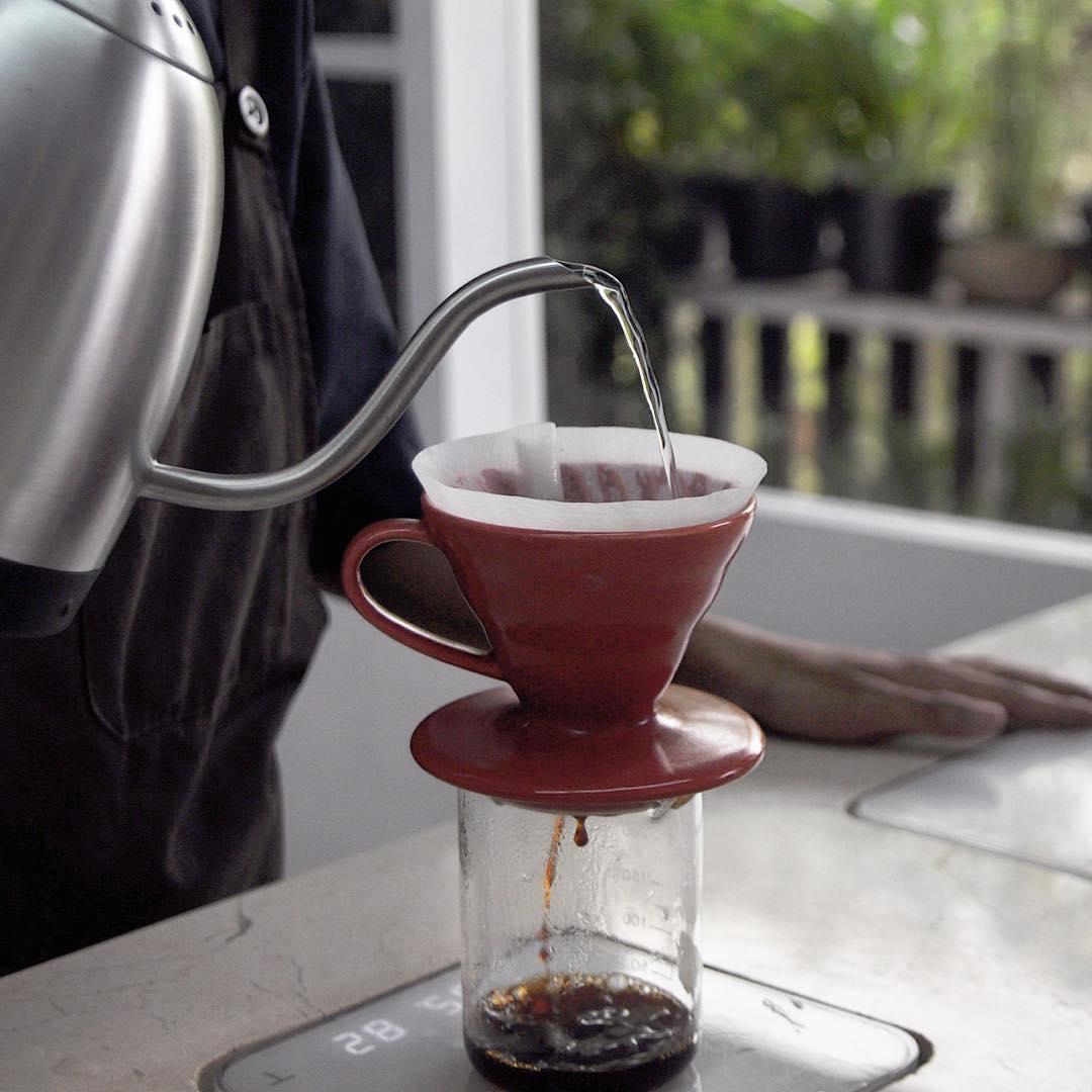 Salah satu tempat ngopi terbaik di Malang via @8ozcoffeestudio