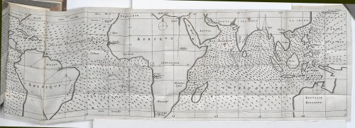 small resolution of first meteorological map charting the directions of trade winds and monsoons having collected information from navigators familiar with ocean transits
