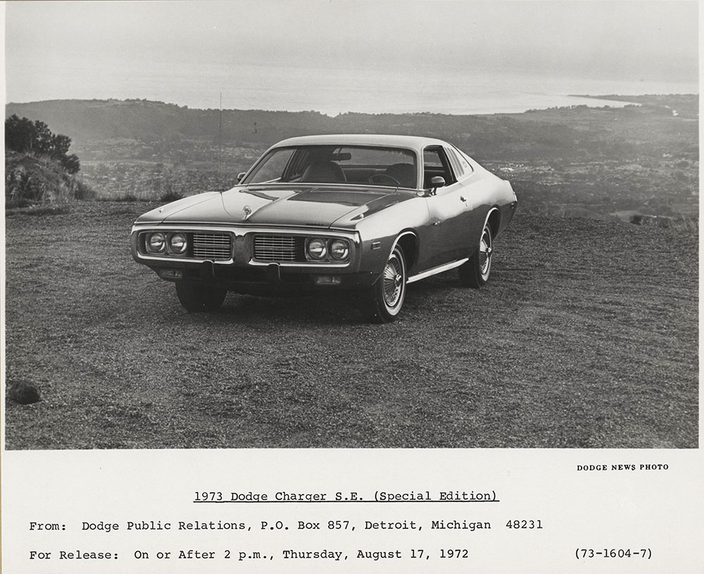 hight resolution of dodge charger s e special edition 1973