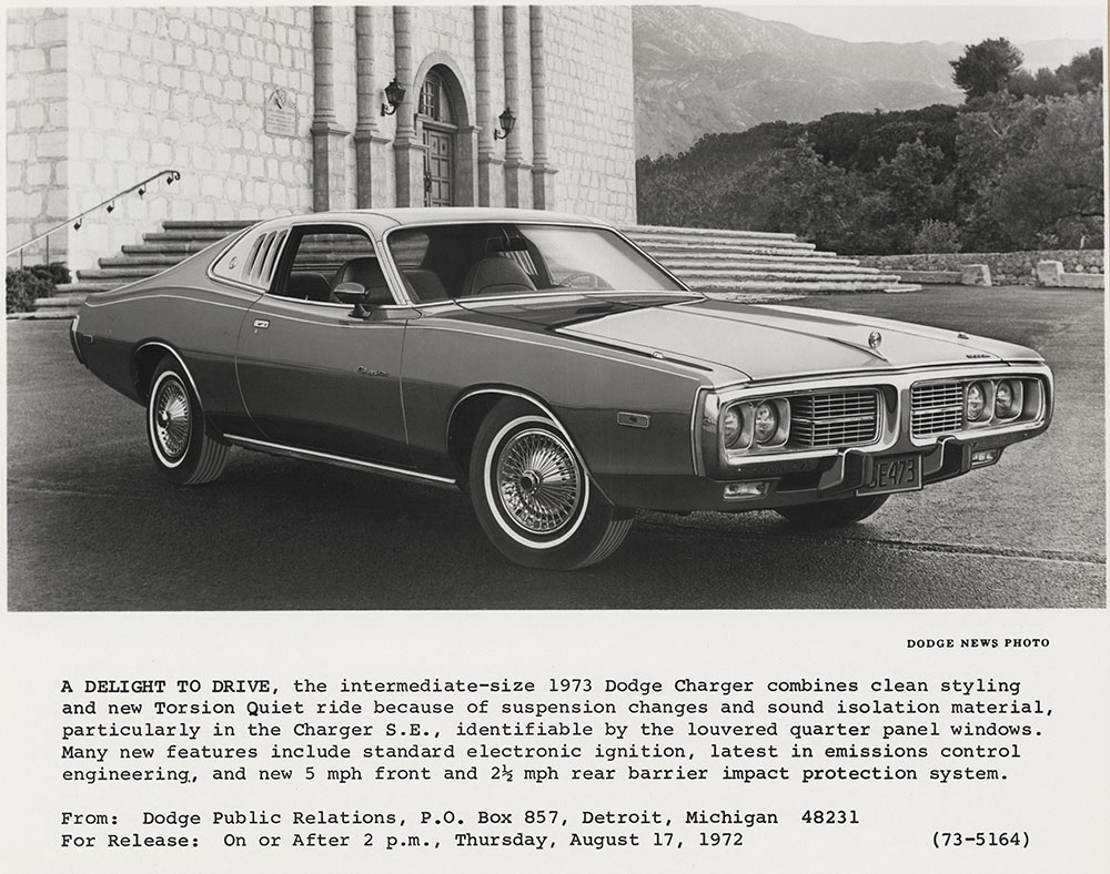hight resolution of dodge charger 1973