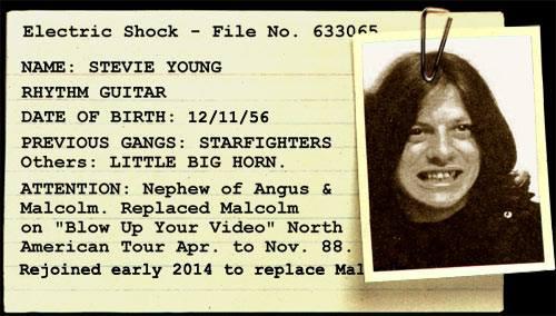 Стиви Йънг като млад. Снимка: Фейсбук/Stevie Young from AC/DC