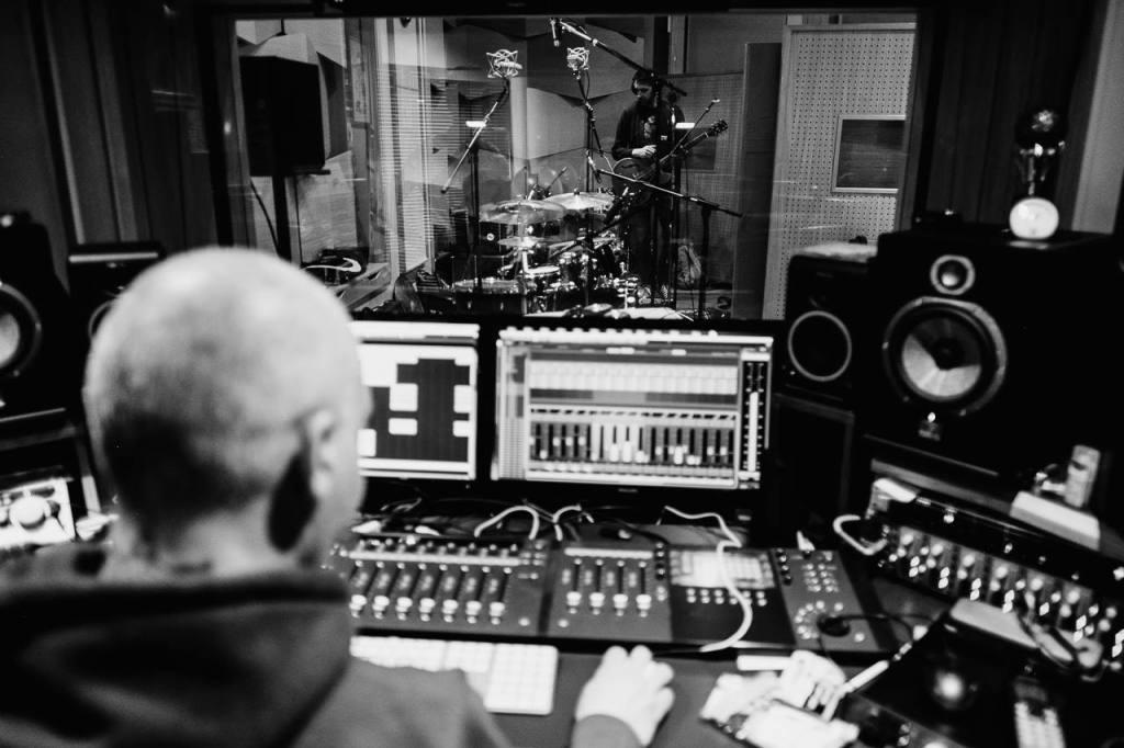 В студиото с Jin Monic по време на записите на Candy Coated  Снимка: Георги Ачов