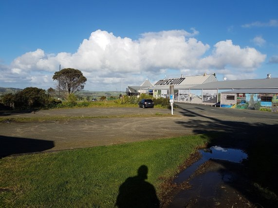 Parking area for motorhomes at the Dargaville museum