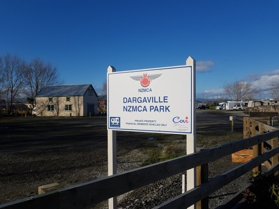 Such a familiar sign now around the country welcome to the Dargaville Park