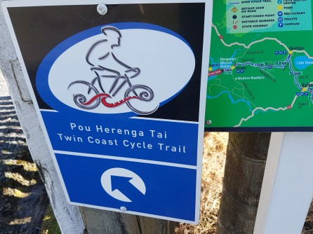 The start or finish of the Cycle trail depending on which way you are riding