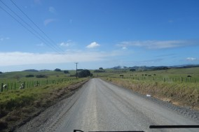 14 kms of gravel road