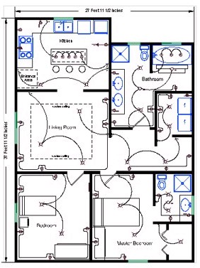 Residential Electrical Plan Symbols : residential, electrical, symbols, Residential, Software, Detailed, Electrical, Floor, Plans, More!