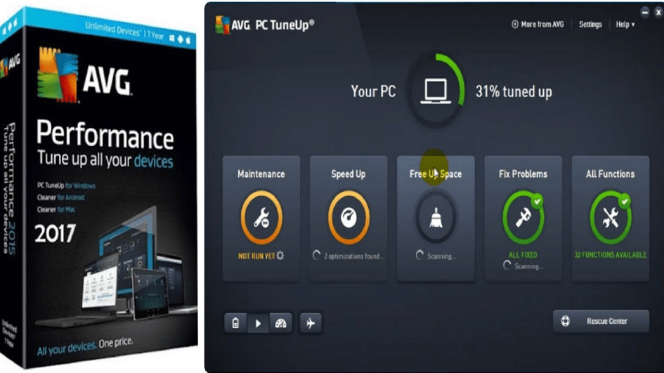avg pc tuneup 2017 full version free download with crack