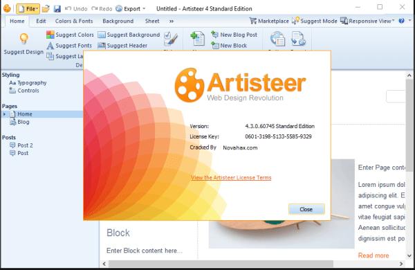 Artisteer Crack 4.3 Keygen Full Version Free Download