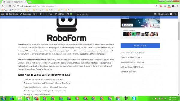 RoboForm Pro Crack 8.9.2.2 & Activation Key {Mac & Win} Portable Latest