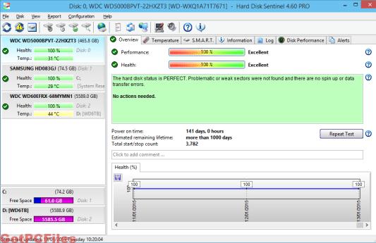 Hard Disk Sentinel Pro 5.70.5 Crack & License key [Latest] Free Download