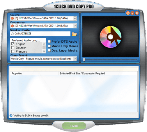 1CLICK DVD Copy Pro 6.2.2.1 Crack And License Key [2021] Free Download