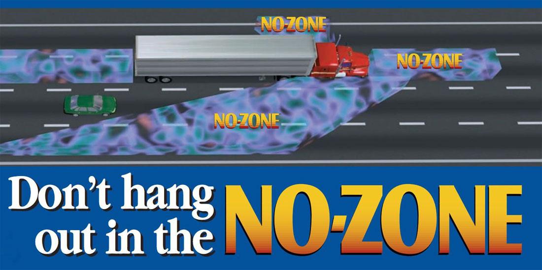 NHTSA No-zone illustration