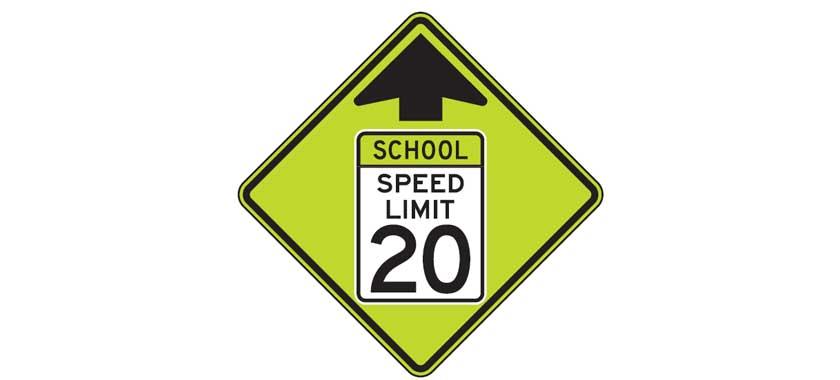 School zone speed limit ahead - driversprep