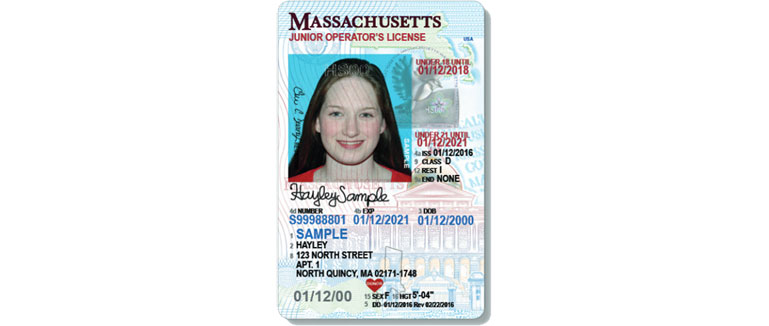 Massachusetts Junior Operator License