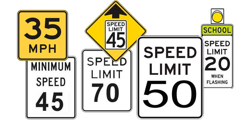 Speed limit signs – licenseroute