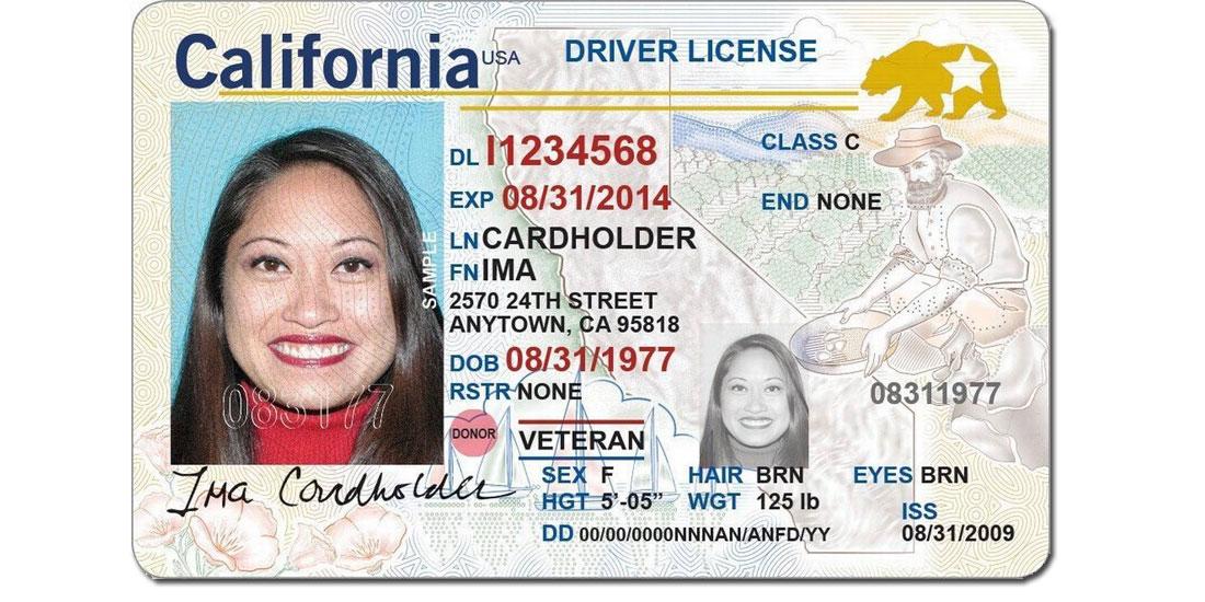 California Driver License 2020