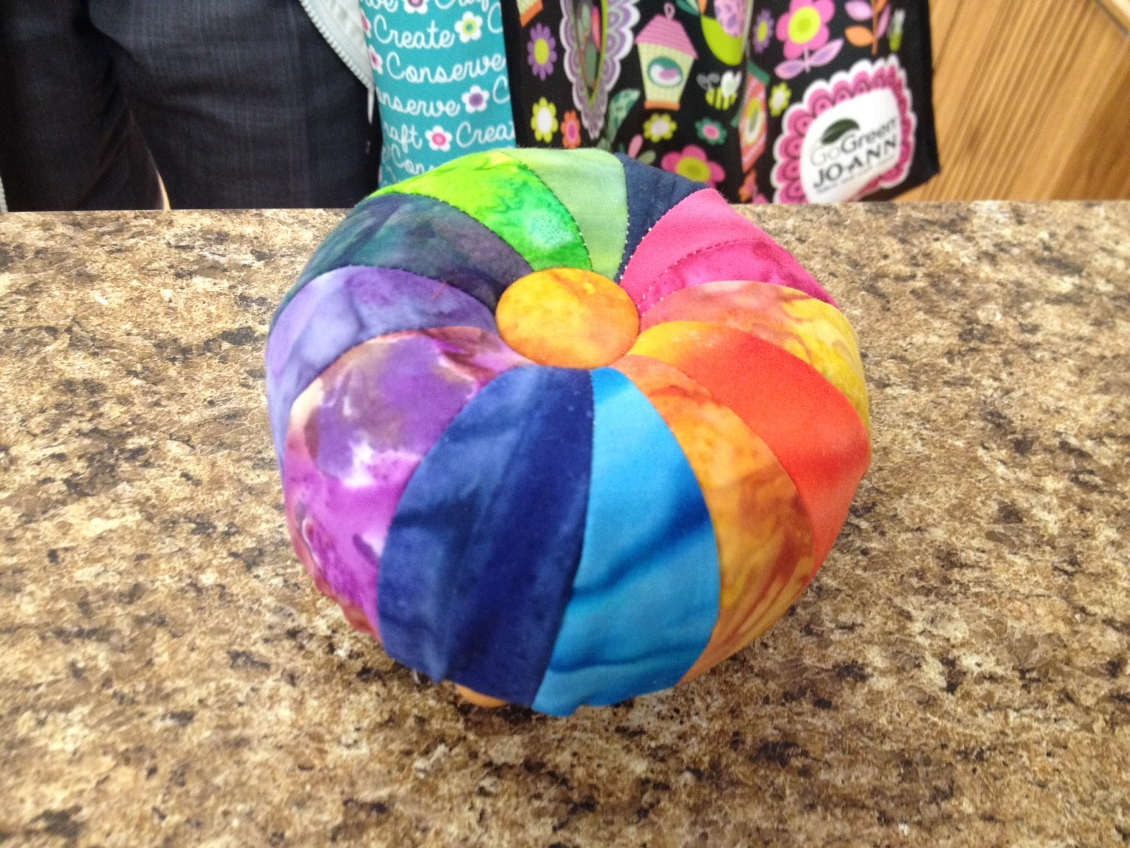 Color Wheel Pincushion Kit Sheila Sinclair Snyder S License To Quilt