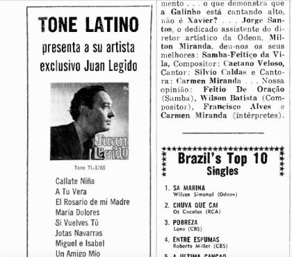 Tone Latino's Juan Legido – Record World (1968)