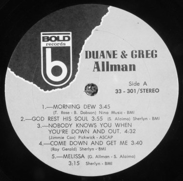 Bold Records – Duane and Gregg Allman
