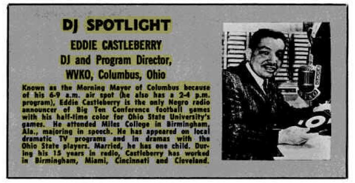 Pioneering R&B DJ Eddie Castleberry – BILLBOARD (1965)
