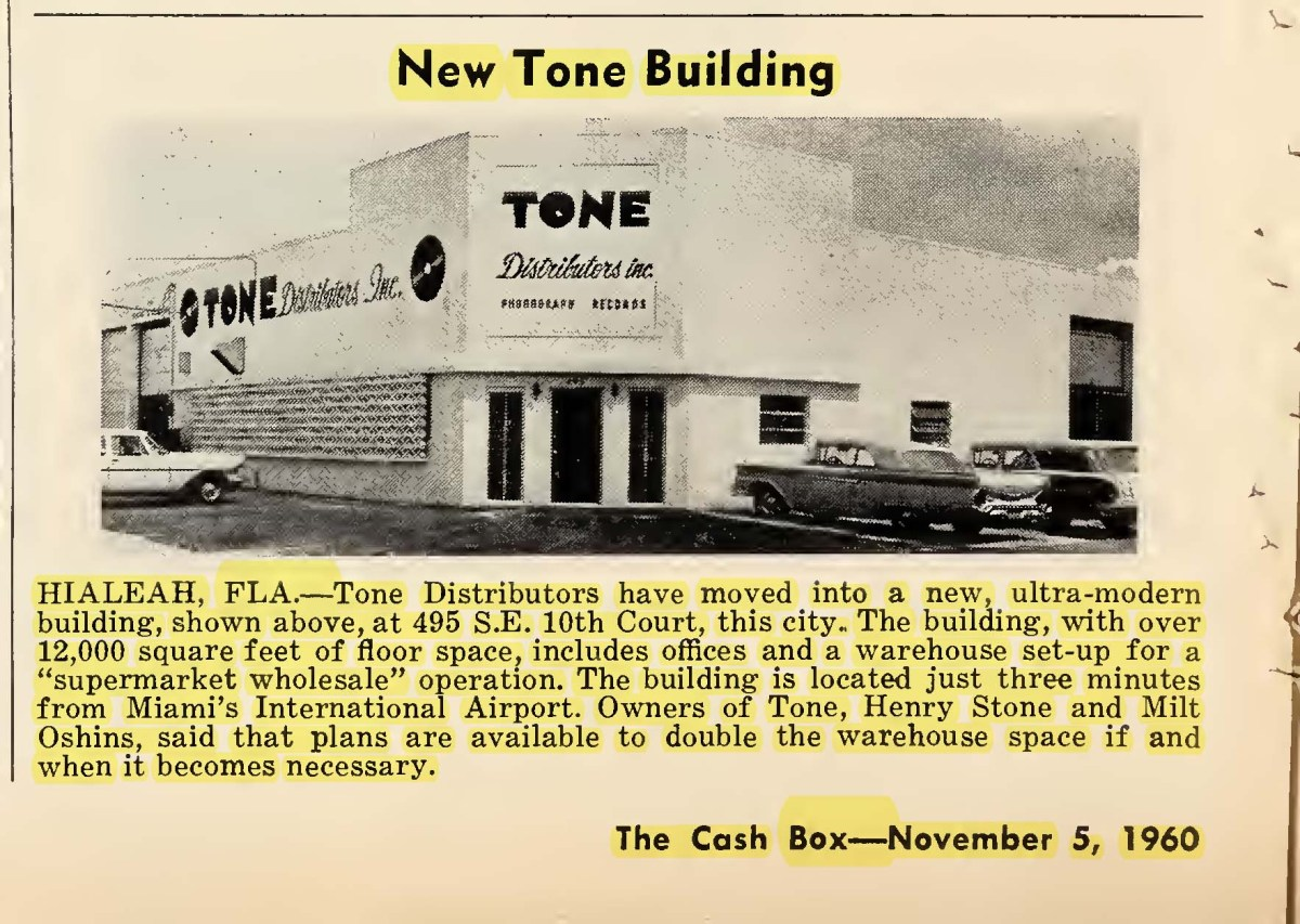 The Tone Distributors Warehouse