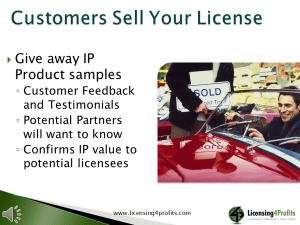 Customers Sell IP