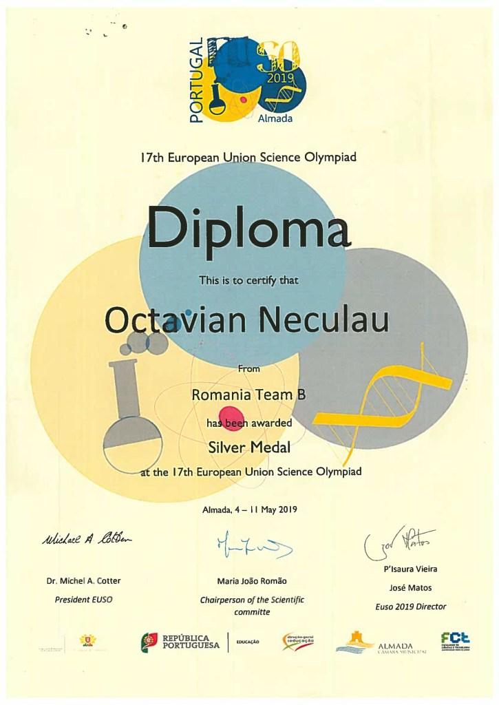 Octavian Neculau-EUSO 2019 Portugalia