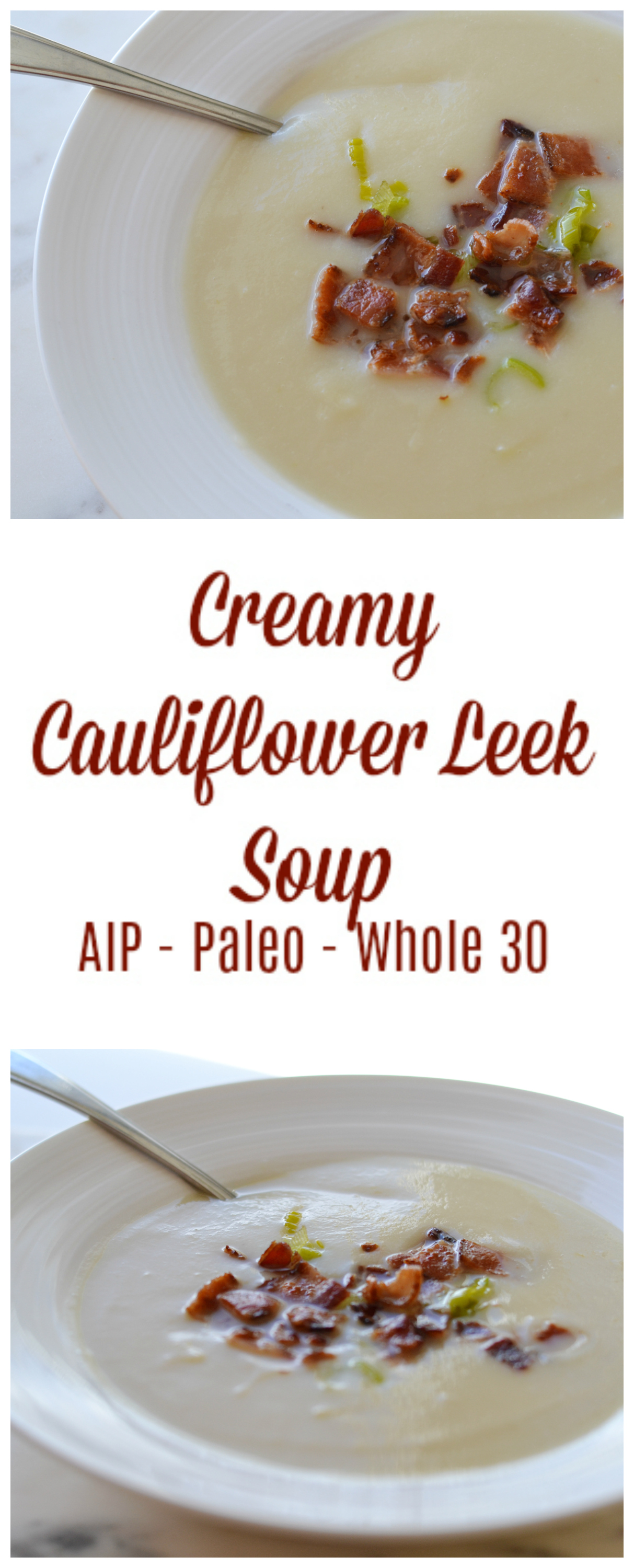Aip Cauliflower Soup creamy cauliflower leek soup (aip/paleo/whole 30)