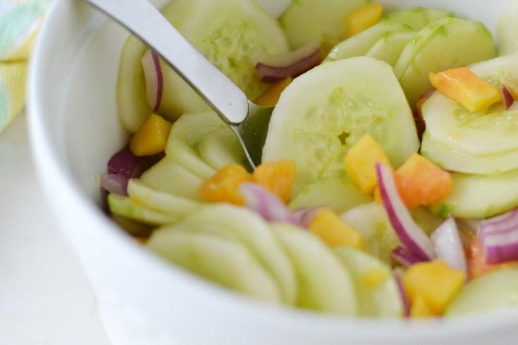 Cucumber Peach Salad (AIP/Paleo/Whole30)