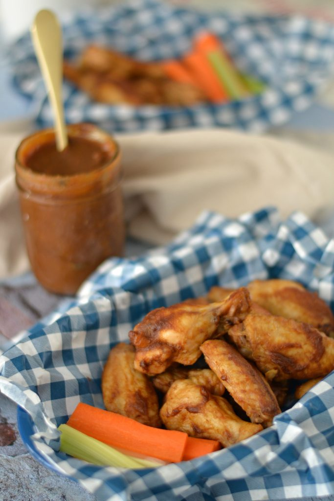 AIP baked bbq wings with AIP bbq sauce